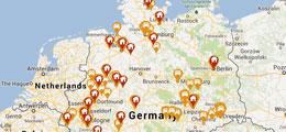 Standorte der CarSharing-Anbieter