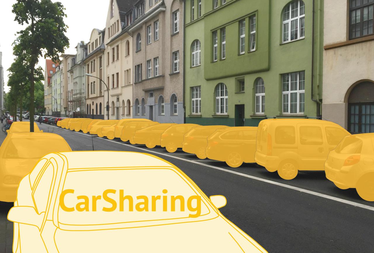 Abb.2: Ein CarSharing-Fahrzeug ersetzt bis zu 20 private Pkw. Bundesverband CarSharing e.V., 2020