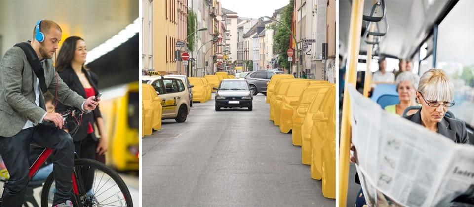 CarSharing-Kunden nutzen häufiger den Umweltverbund (Fotos: links istockphoto/stuti, mitte bcs, rechts istockphoto/skynesher)