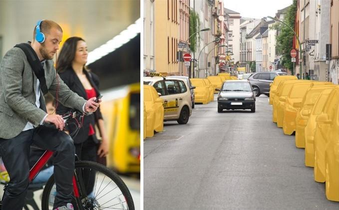 CarSharing führt zur Abschaffung privater Pkw und fördert den Umweltverbund.  (Fotos: links istockphoto/stuti, rechts bcs)