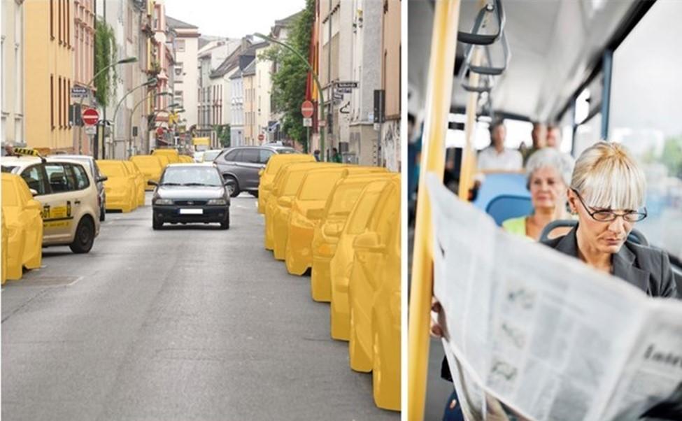 CarSharing führt zur Abschaffung privater Pkw und fördert den Umweltverbund. (Fotos: links bcs, rechts istockphoto/skynesher)